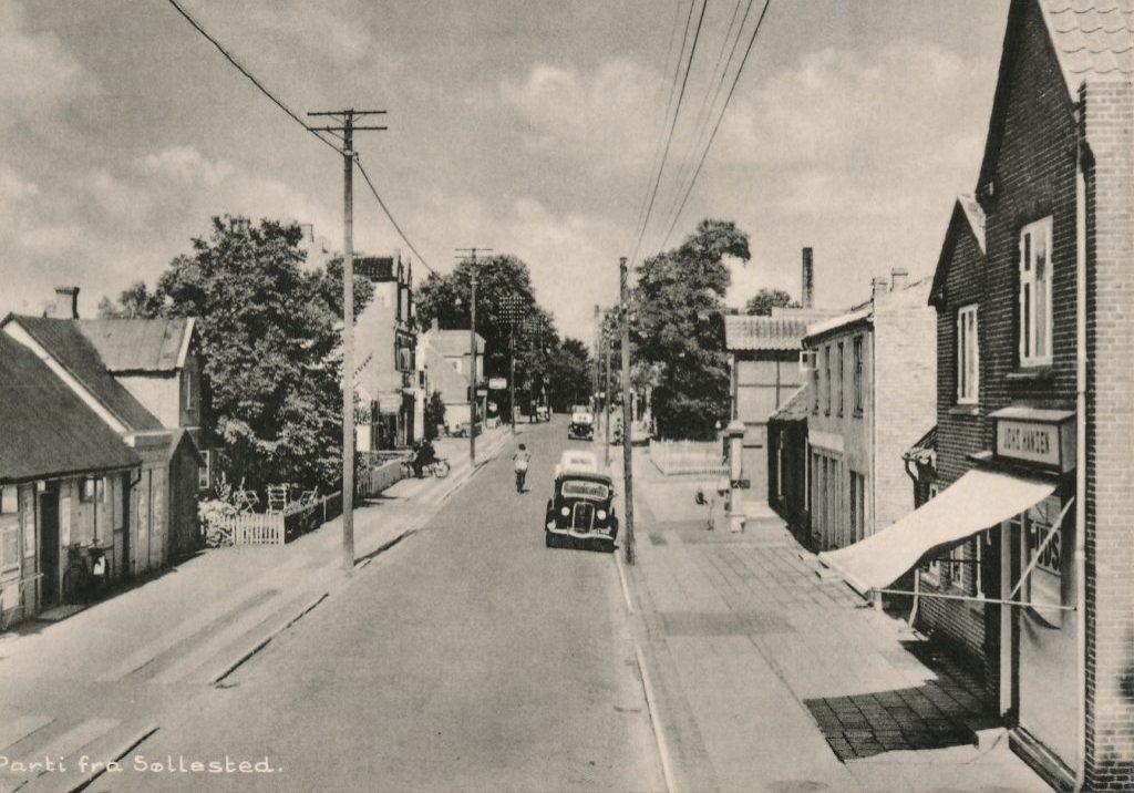 Hovedgaden i Søllested ca. 1946